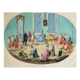 New Year celebration in Vienna in 1782, 1783 Postcard