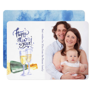 New Year Celebration Party Personalized Card