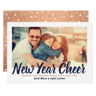 New Year Cheer | Copper Holiday Photo Card