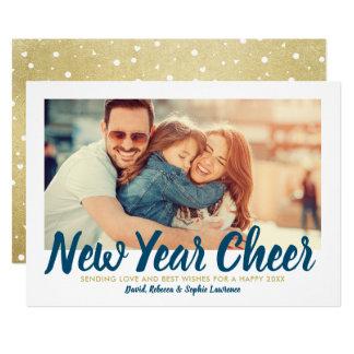 New Year Cheer | Gold Holiday Photo Card