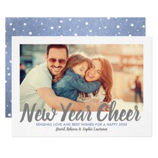 New Year Cheer | Moonstone Holiday Photo Card