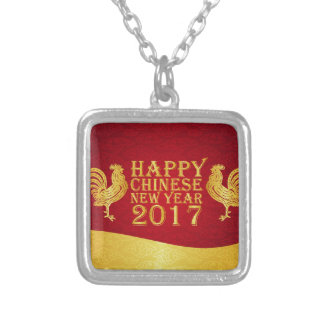 New Year Chinese Style 2017 Rooster Silver Plated Necklace