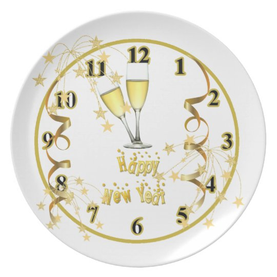 New Year Clock Plate