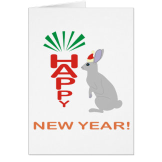 New Year Collection With Rabbit Custom  Card