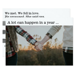 New Year Couple Engagement Photo Card