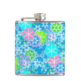 New year design hip flask