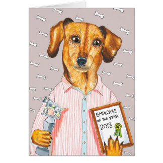 New Year Dog Card