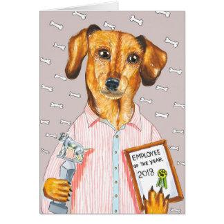 New Year Dog Card