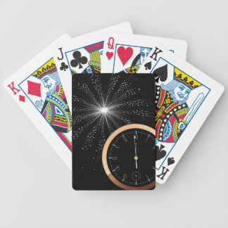 New Year Firework Bicycle Playing Cards