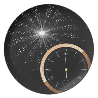 New Year Firework Party Plate