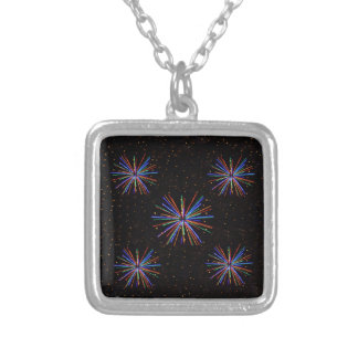 New Year Fireworks  4th of July 2016 Silver Plated Necklace