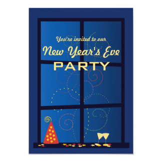 New Year Fireworks Party Card