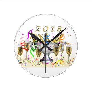 New Year Gifts Round Clock