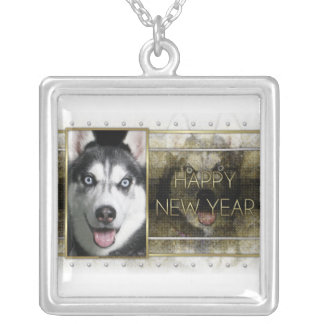 New Year - Golden Elegance - Siberian Husky Personalized Necklace