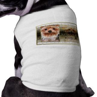 New Year - Golden Elegance - Yorkshire Terrier Doggie Shirt