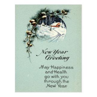 New Year Greeting 1915 Vintage Postcard