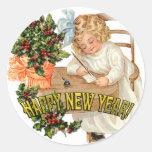 New Year Greeting ~ Circle Sticker