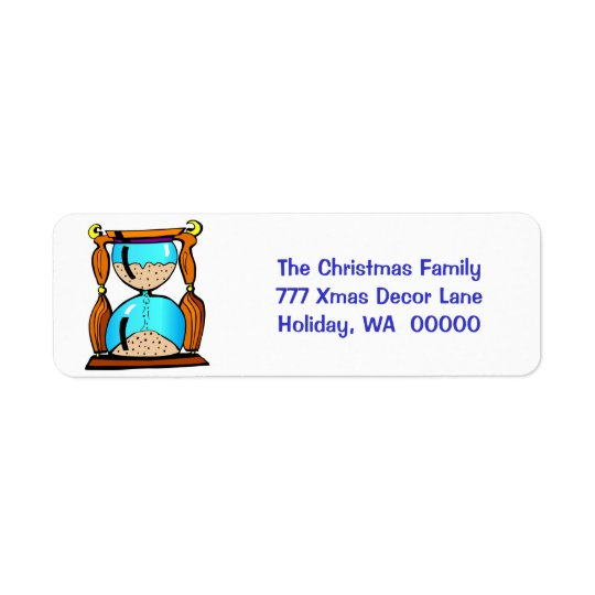 New Year Hourglass Envelope Self Adhesive Labels