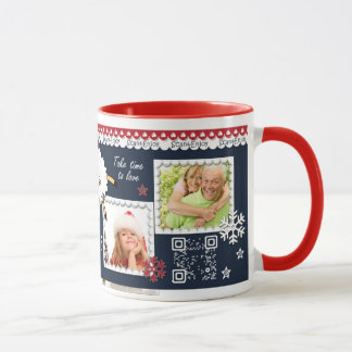 New Year interactive‎ photo mug with santa dance