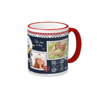 New Year interactive photo mug with santa dance