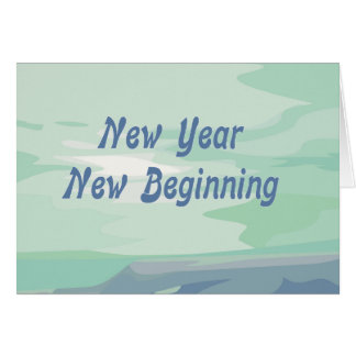 New Year New Beginning Jewish New Year Card
