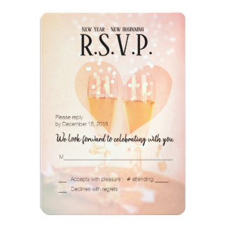 New Year New Beginning/New Years  Wedding/RSVP Card