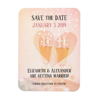 New Year New Beginning/ Wedding/ Save the Date Magnet