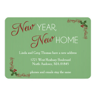 New Year, New Home Christmas Moving Announcement