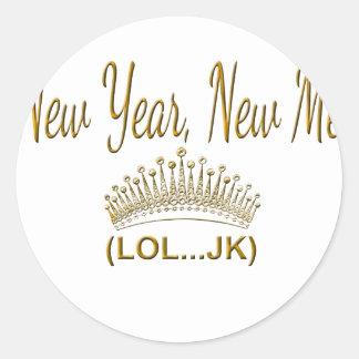 New Year, New Me LOL JK Classic Round Sticker