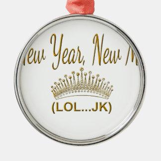 New Year, New Me LOL JK Metal Ornament
