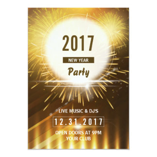 New Year Party Flyer | 2017 NYE Eve Card