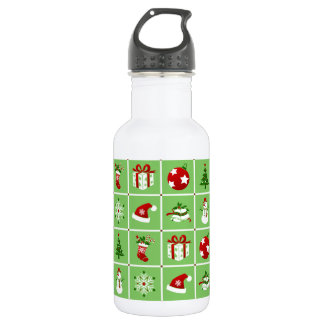 New Year pattern. Color Pictures. 2018. 532 Ml Water Bottle