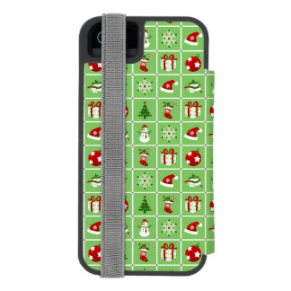 New Year pattern. Color Pictures. 2018. Incipio Watson™ iPhone 5 Wallet Case