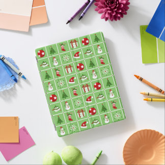New Year pattern. Color Pictures. 2018. iPad Cover