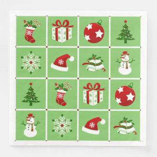 New Year pattern. Color Pictures. 2018. Paper Napkins