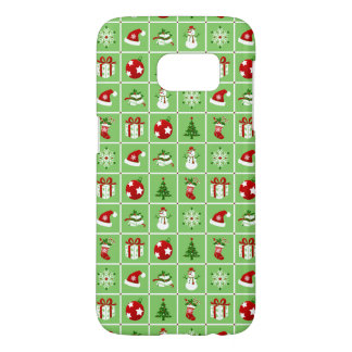 New Year pattern. Color Pictures. 2018. Samsung Galaxy S7 Case