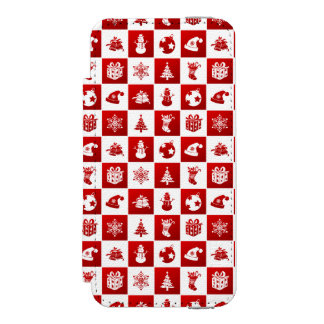 New Year pattern. Red and White. 2018. Incipio Watson™ iPhone 5 Wallet Case