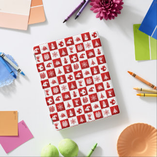 New Year pattern. Red and White. 2018. iPad Cover