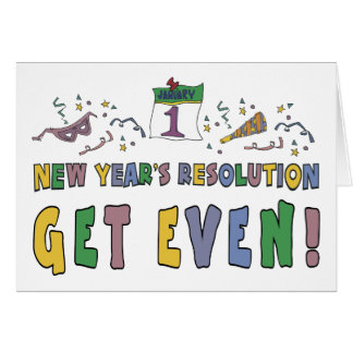 New Year Resolutions Funny Gift Greeting Card