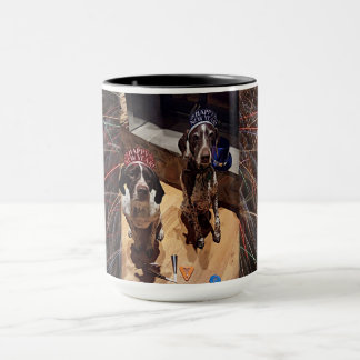 New Year's Eve Party Dogs Fireworks Combo Mug