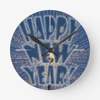 New Year s Lights Round Clock