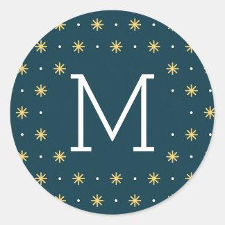 New Year Sparkle Holiday Round Sticker