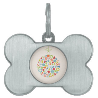 New Year sphere2 Pet ID Tag