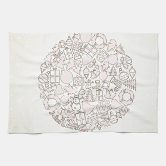 New Year sphere4 Kitchen Towel