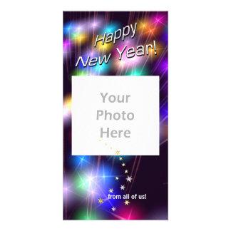New Year Star Lights Card