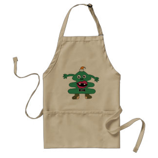 New Year Tree Cute Monster Standard Apron