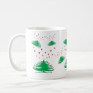 New Year X-mas Tree Festive Pine Tree  Mug