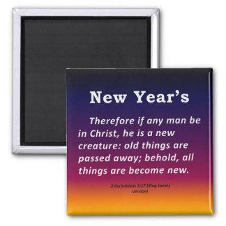 New Year's 2 Corinthians 5-17 Magnet