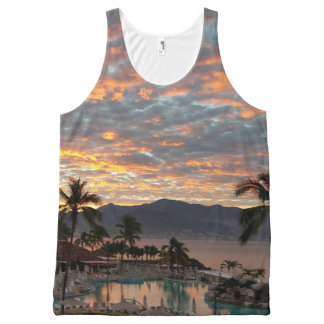 New Year's Beach Sunrise All-Over-Print Tank Top