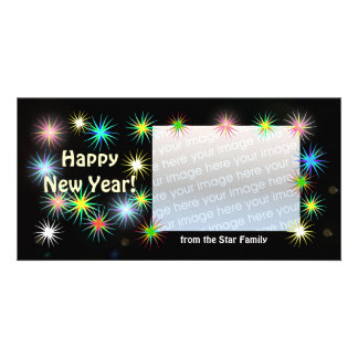 New Years Black Starblast Card